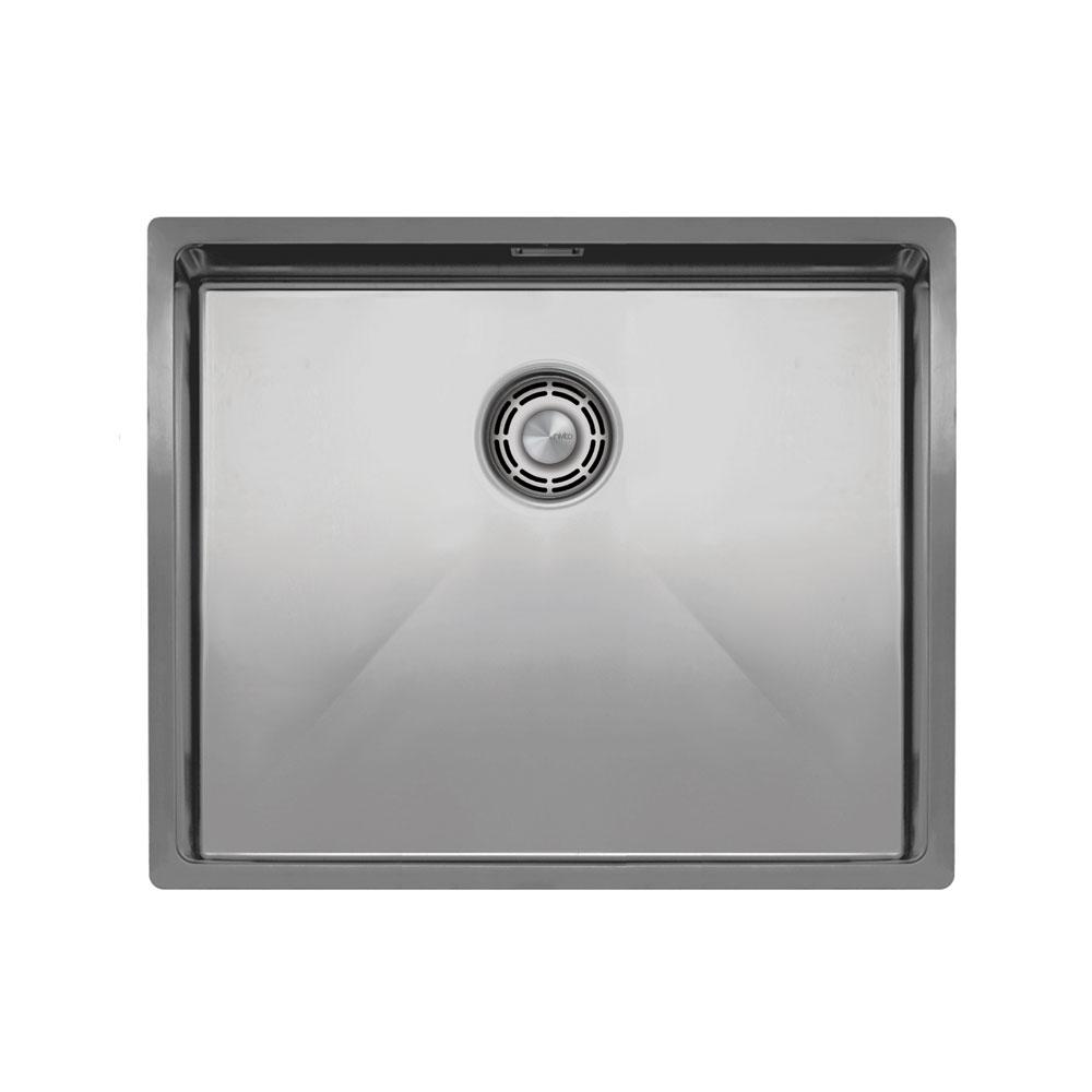 Нержавіюча Сталь Кухня Мийка - Nivito CU-500-B Brushed Steel Strainer ∕ Waste Kit Color