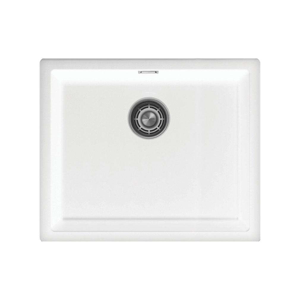 Білий Кухня Басейн - Nivito CU-500-GR-WH Brushed Steel Strainer ∕ Waste Kit Color