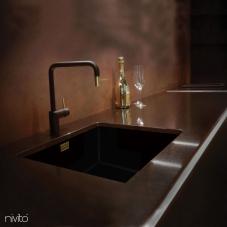 Золотий/Латунний Кухня Кран Чорний/Золотий/Латунний - Nivito 2-RH-340-BISTRO